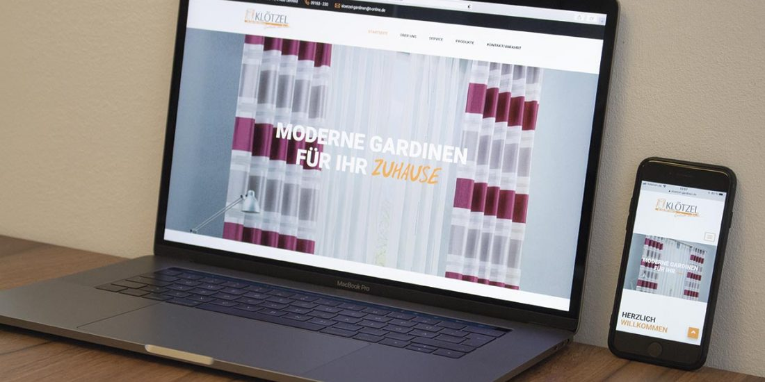 Website - Klötzel Gardinen