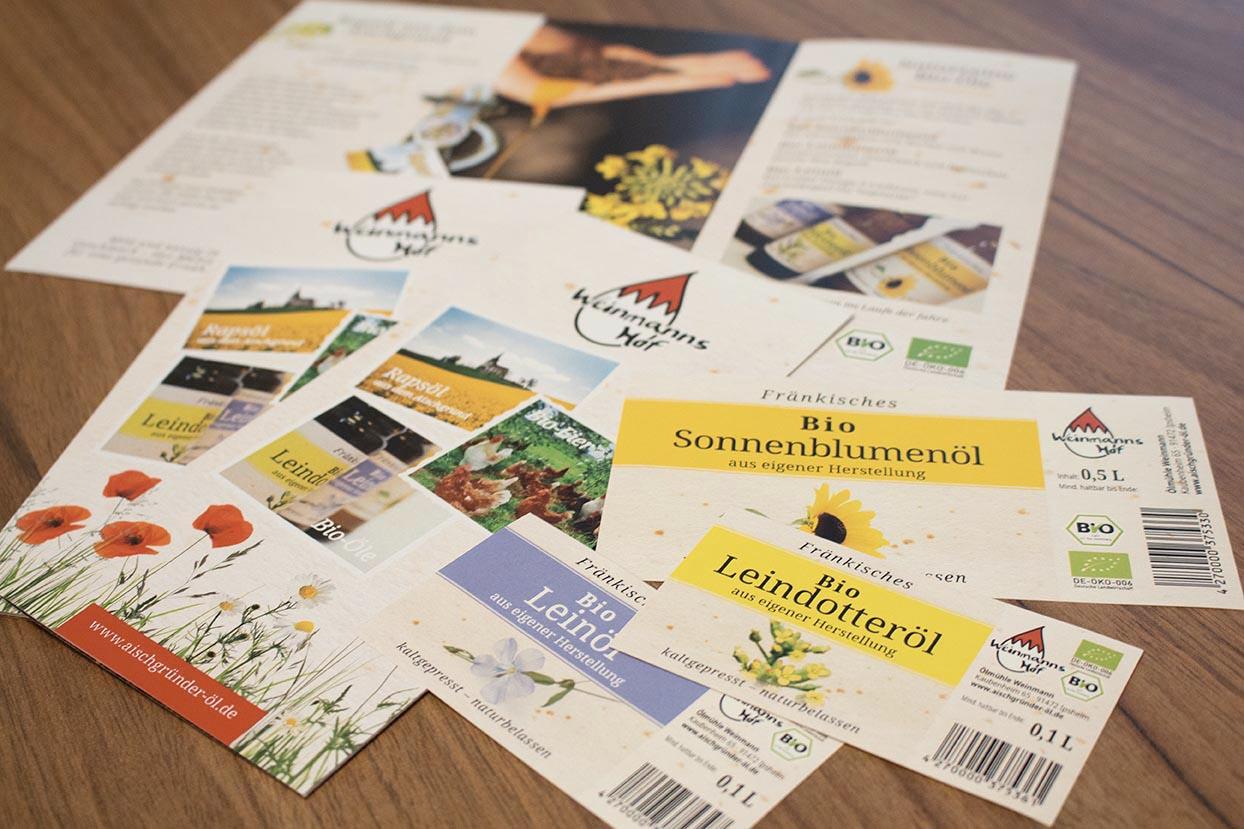 Etiketten, Flyer - Weinmannshof